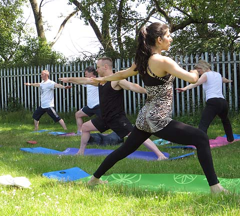 Pete Whale Outdoor Yoga Birmingham UK