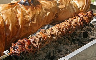 Kokoretsi - a traditional Greek delicacy