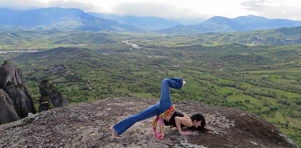 Yoga in Meteora