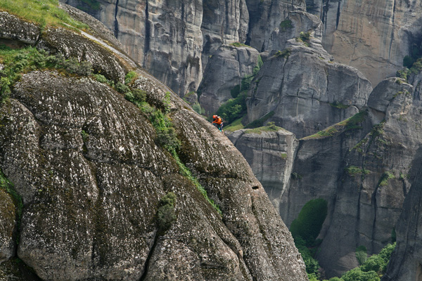 Mountain Climbing in Meteora