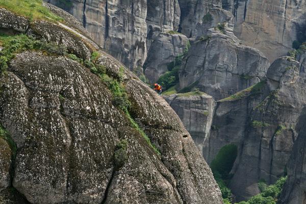 Mountain Climbing in Meteora