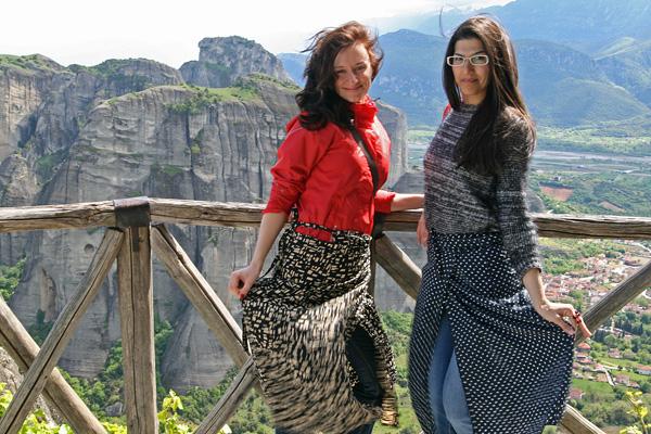 Girls in Meteora