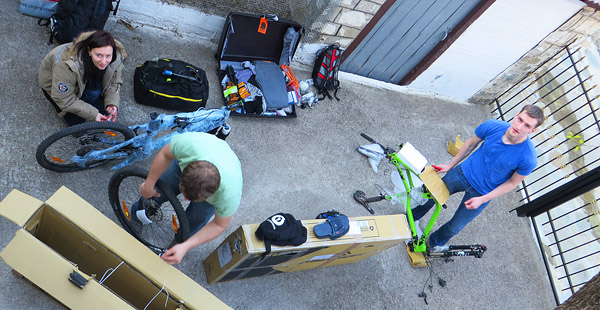 Karditsa Unpacking Mountain Bikes
