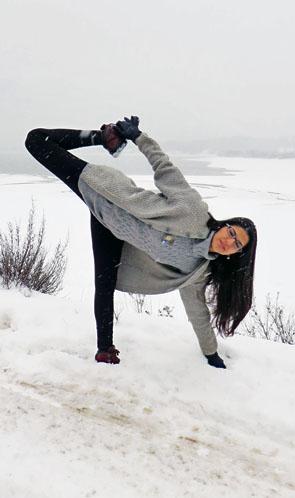 Yoga at Plastiras Lake